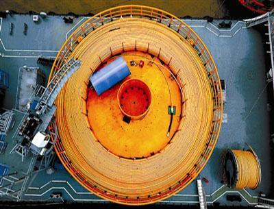 國產首根海洋臍帶纜在寧波交付